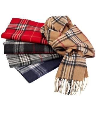 Sjaal 30 x 180 Wol Ruit